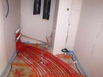Réalisation plancher chauffant pompe à chaleur